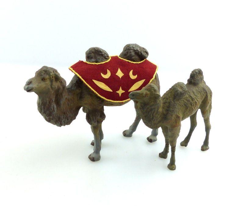 E9415 Kamel mit Jungtier aus Lineol wohl 50er Jahre