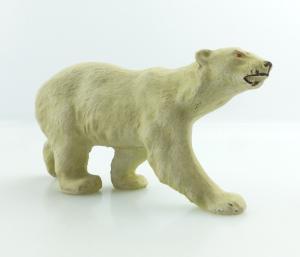 E9408 Altes Masse Tier Eisbär wohl Lineol 50er Jahre
