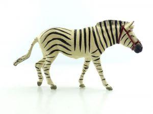 E9402 Altes Lineol Zebra wohl 50er Jahre mit Zaumzeug Lineol Tier Figur