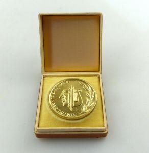 E9519 DDR Medaille Bewegung junger Talente Zentrale Feste JP FDJ goldfarben