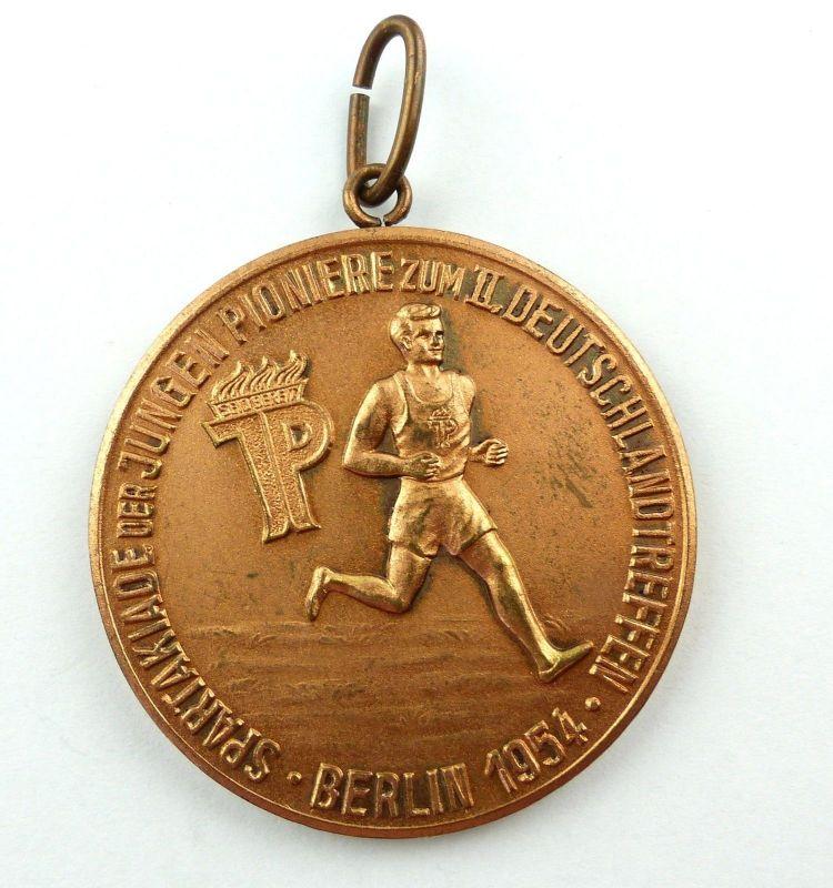 E9487 Extrem seltene DDR Medaille Spartakiade der jungen Pioniere Berlin 1954