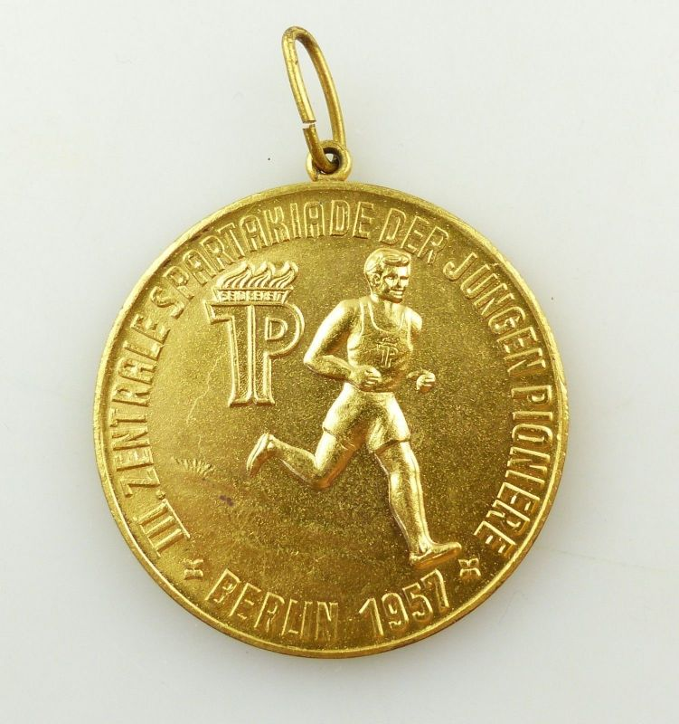 E9474 DDR Medaille III Zentrale Spartakiade der jungen Pioniere Berlin 1957