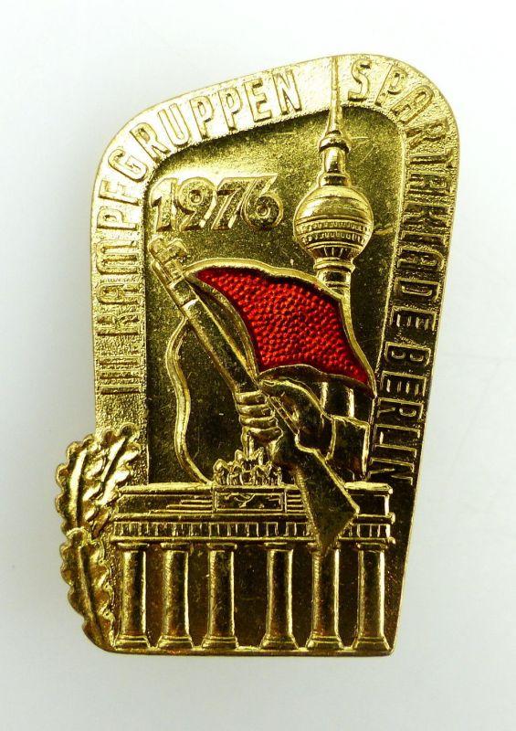 #e2066 1976 III. Kampfgruppen Spartakiade Berlin goldfarben Abzeichen DDR