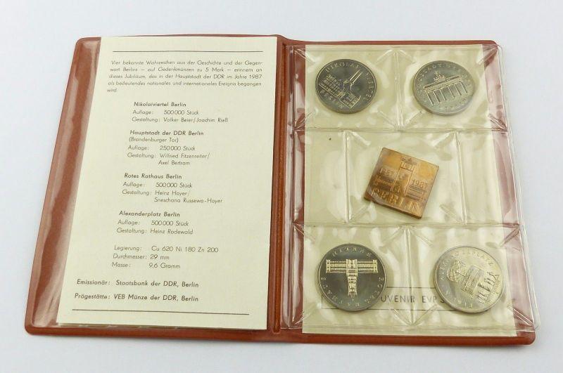 E7205 Münzsouvenir 750 Jahre Berlin Ddr 1987 Staatsbank Der Ddr 5
