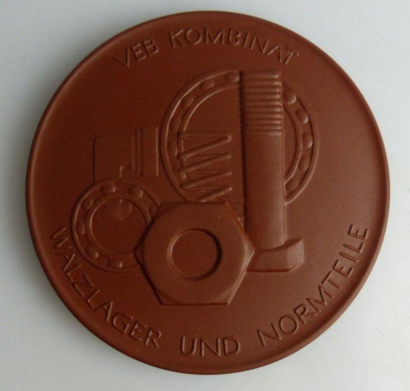 Meissen Medaille: VEB Kombinat Wälzlager und Normteile, In Anerkennun, Orden1782