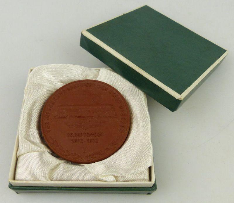 Meissen Medaille: 100 Jahre Strassenbahn in Dresden Pferdebahn 1872, Orden1775