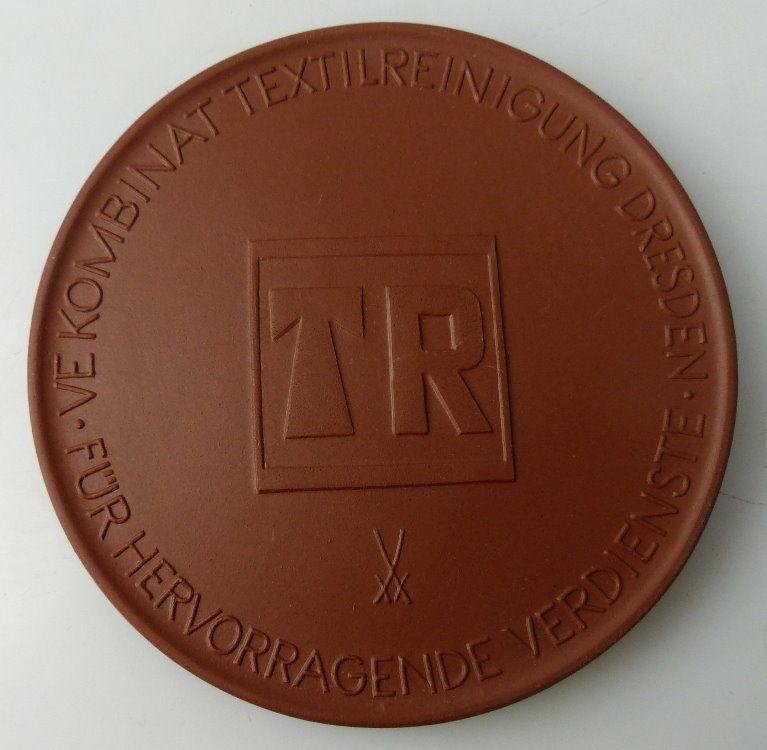 Meissen Medaille: VEB Kombinat Textilreinigung Dresden Für hervorrage, Orden1734
