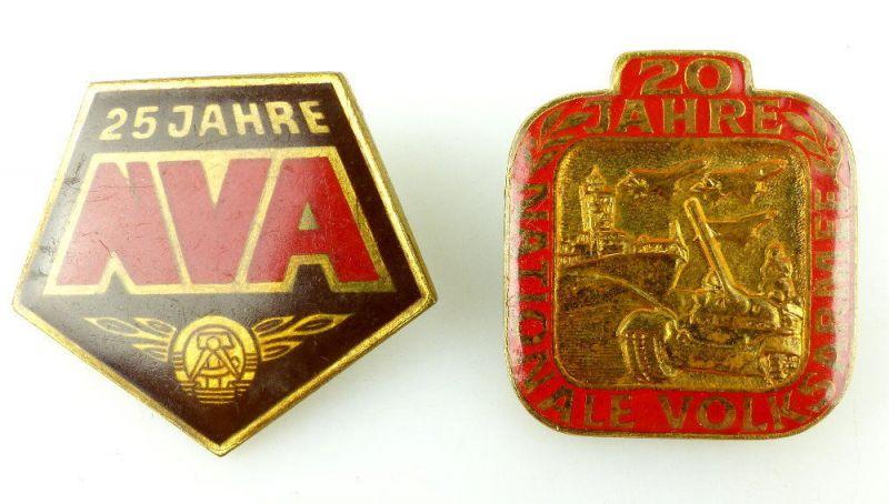 2 DDR Abzeichen: 25 und 20 Jahre Nationale Volkarmee NVA e1742
