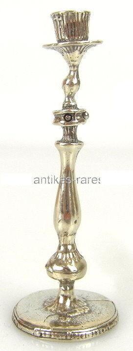 Alter 1 flammiger Puppenstuben Kerzenleuchter in 925 (Ag) Silber