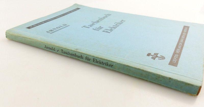E9621 Altes Buch Taschenbuch für Elektriker Fachbuch Auflage 3 2