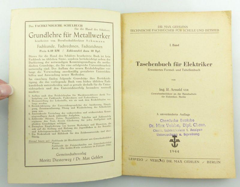 E9621 Altes Buch Taschenbuch für Elektriker Fachbuch Auflage 3 3