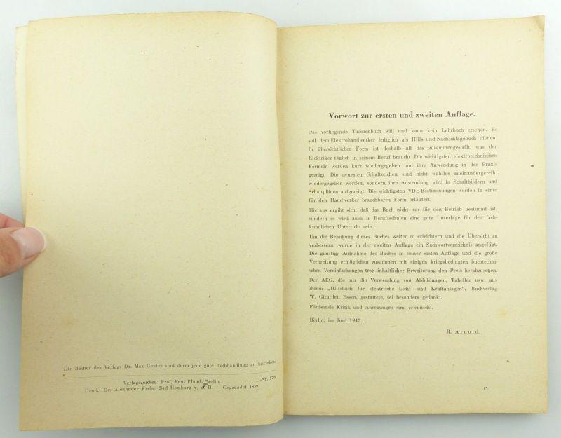 E9621 Altes Buch Taschenbuch für Elektriker Fachbuch Auflage 3 4