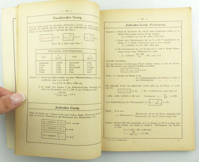 E9621 Altes Buch Taschenbuch für Elektriker Fachbuch Auflage 3 5