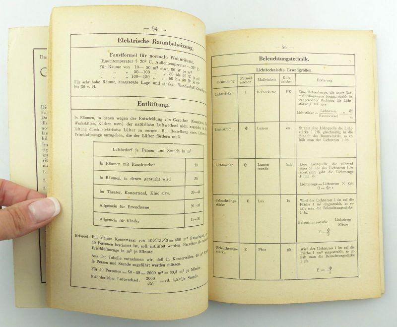 E9621 Altes Buch Taschenbuch für Elektriker Fachbuch Auflage 3 7