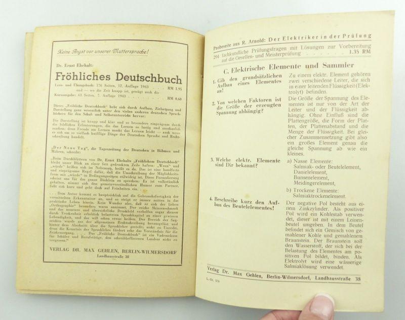 E9621 Altes Buch Taschenbuch für Elektriker Fachbuch Auflage 3 8