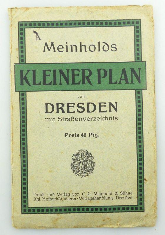E9619 Kleiner Plan von Dresden mit Straßenverzeichnis Meinhold und Söhne 0