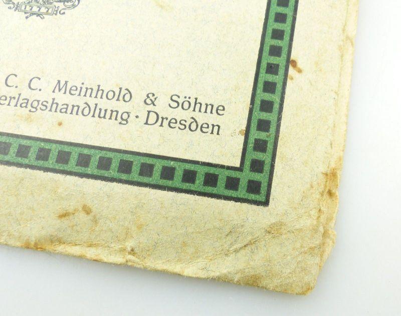 E9619 Kleiner Plan von Dresden mit Straßenverzeichnis Meinhold und Söhne 1