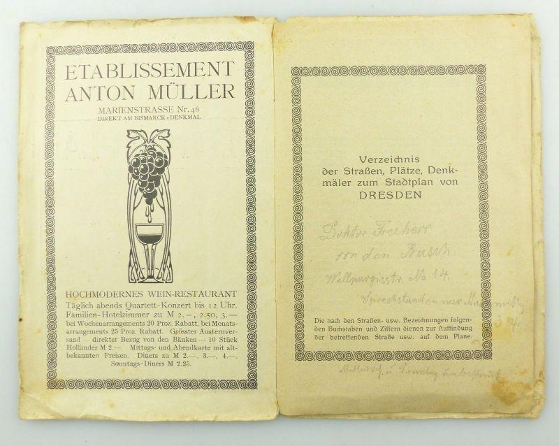 E9619 Kleiner Plan von Dresden mit Straßenverzeichnis Meinhold und Söhne 4