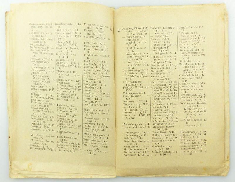 E9619 Kleiner Plan von Dresden mit Straßenverzeichnis Meinhold und Söhne 6