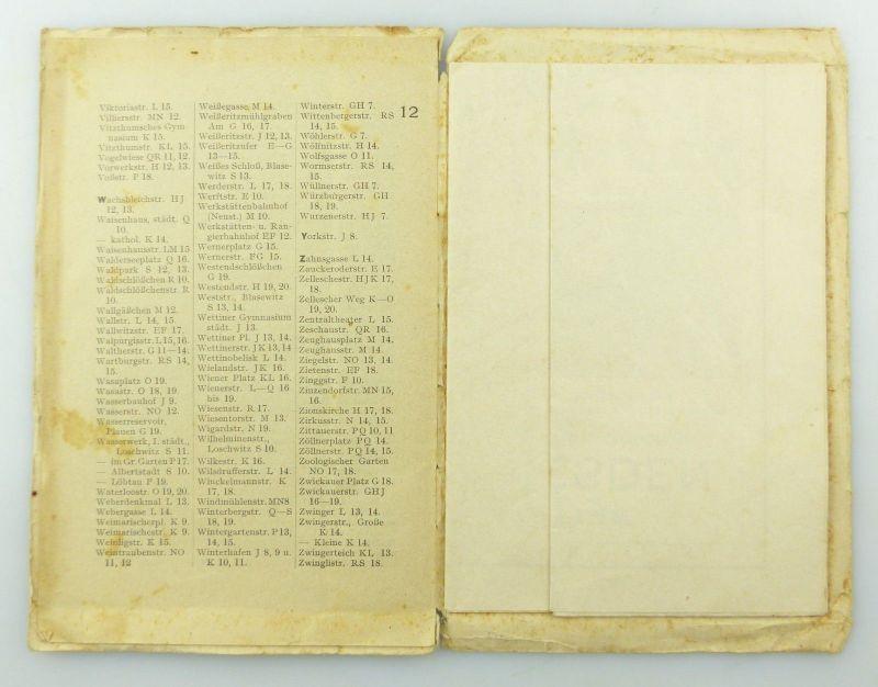 E9619 Kleiner Plan von Dresden mit Straßenverzeichnis Meinhold und Söhne 7