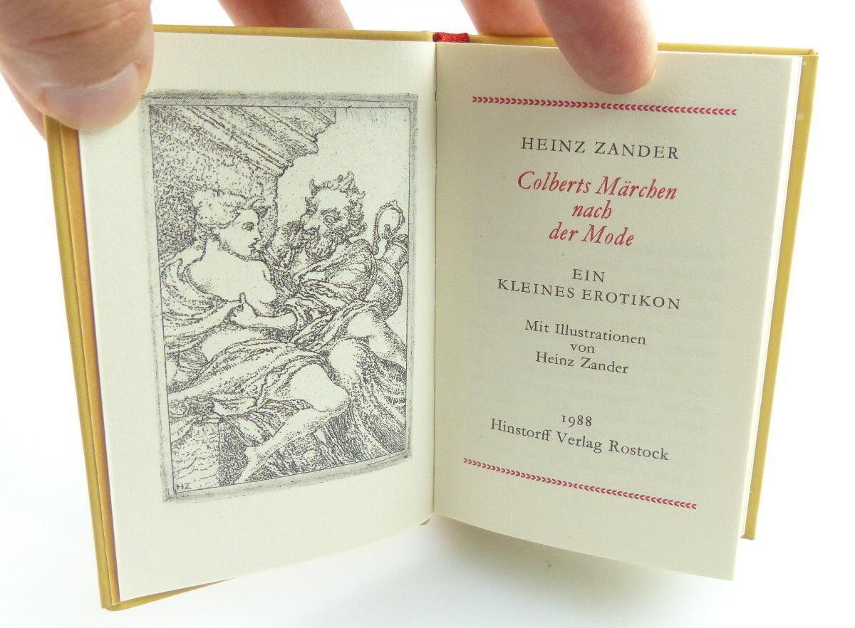 Minibuch : Ein kleines Erotikon Colberts Märchen Hinstroff Verlag Rostock /r661 2