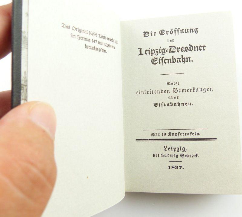 Minibuch : Die Eröffnung der Leizig Dresdner Eisenbahn VEB Verlag Verkehsw./r662 2