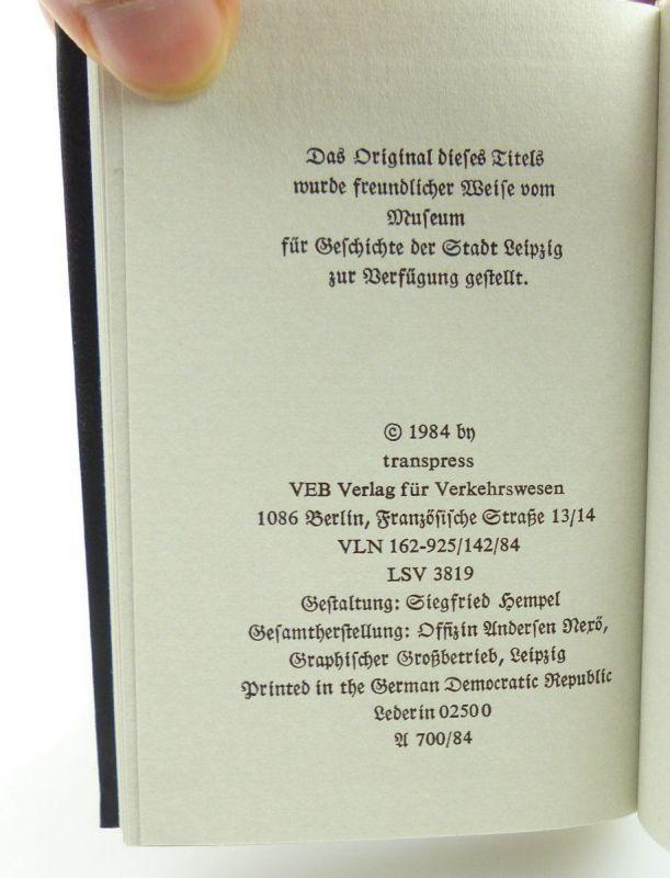 Minibuch : Die Eröffnung der Leizig Dresdner Eisenbahn VEB Verlag Verkehsw./r662 4