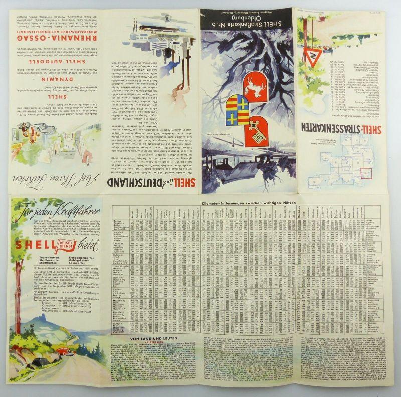 E9605 Alte Shell Straßenkarte Nummer 6 Oldenburg Oldenburger Bauernhaus 2
