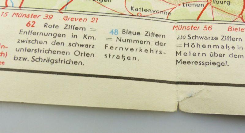 E9605 Alte Shell Straßenkarte Nummer 6 Oldenburg Oldenburger Bauernhaus 4