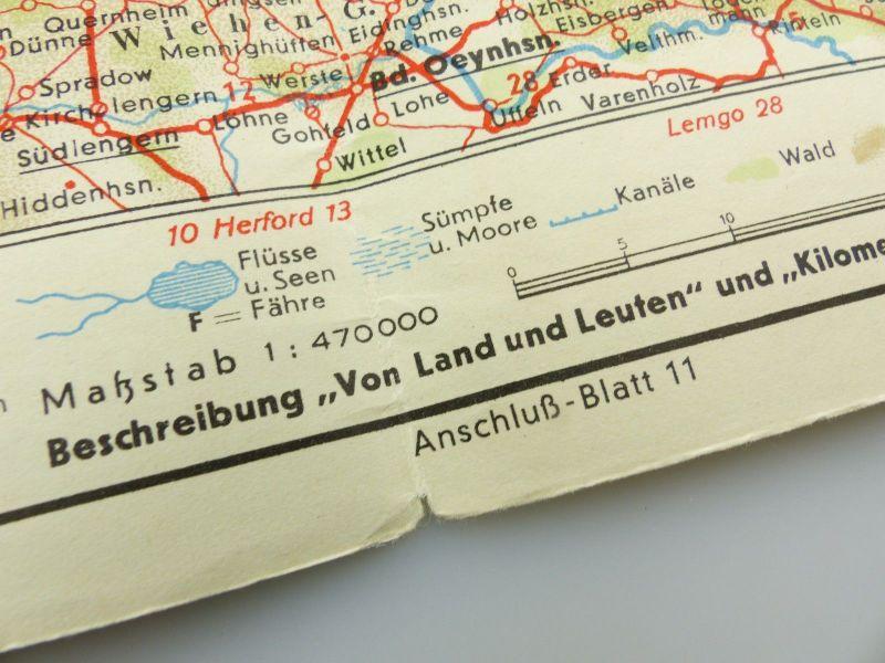 E9605 Alte Shell Straßenkarte Nummer 6 Oldenburg Oldenburger Bauernhaus 5