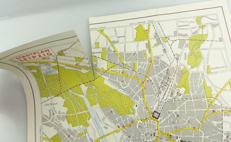 E9602 Alte Shell Stadtkarte Nummer 5 Leipzig Völkerschlachtdenkmal 3