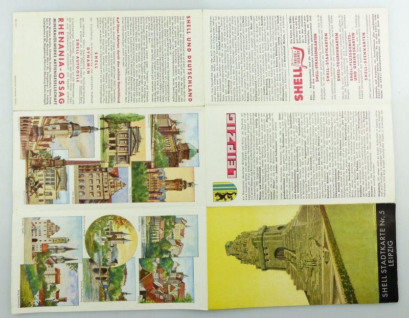 E9602 Alte Shell Stadtkarte Nummer 5 Leipzig Völkerschlachtdenkmal 6