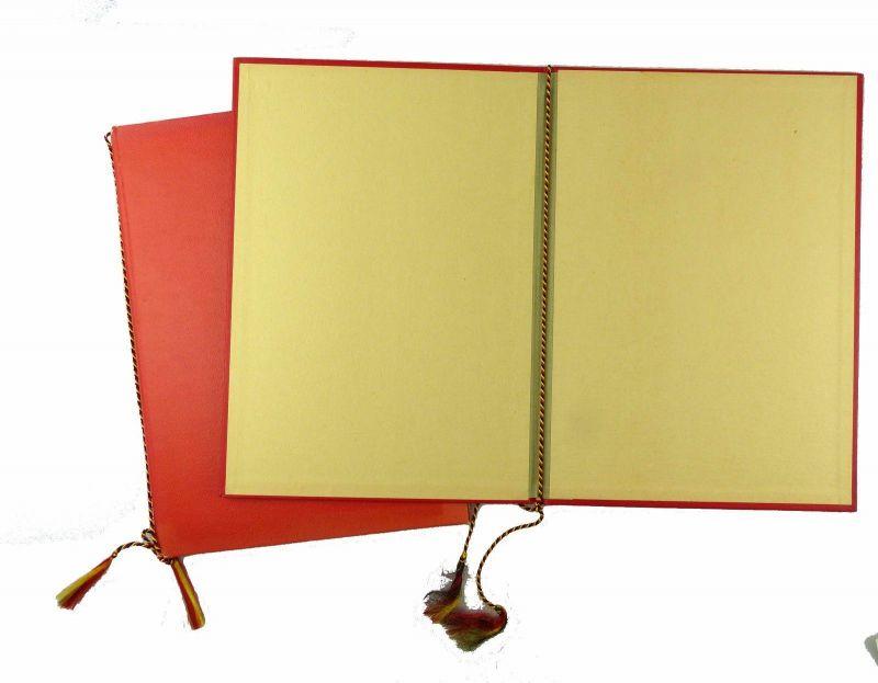 #e6621 2 große DDR Urkundenmappnen 1x mit Aufschrift FDGB 3
