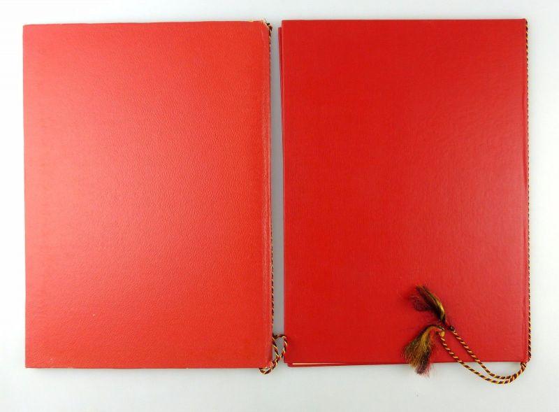 #e6621 2 große DDR Urkundenmappnen 1x mit Aufschrift FDGB 4