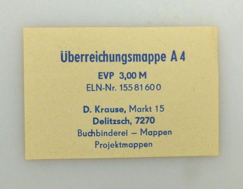 #e6621 2 große DDR Urkundenmappnen 1x mit Aufschrift FDGB 5