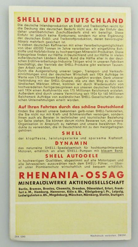 E9595 Alte Shell Stadtkarte Nummer 43 Plauen 1