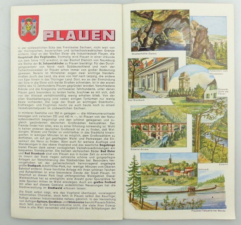 E9595 Alte Shell Stadtkarte Nummer 43 Plauen 3
