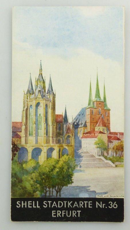 E9594 Alte Shell Stadtkarte Nummer 36 Erfurt