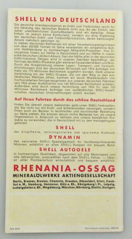 E9594 Alte Shell Stadtkarte Nummer 36 Erfurt 1