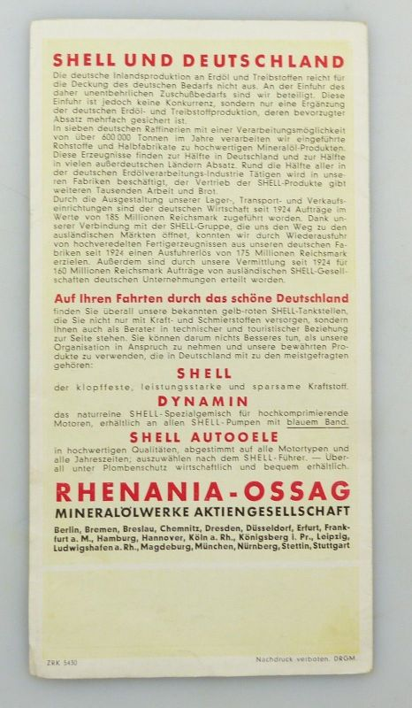 E9591 Shell Stadtkarte Nummer 59 Zwickau DRGM 1
