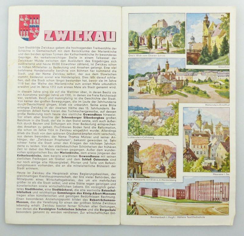 E9591 Shell Stadtkarte Nummer 59 Zwickau DRGM 3