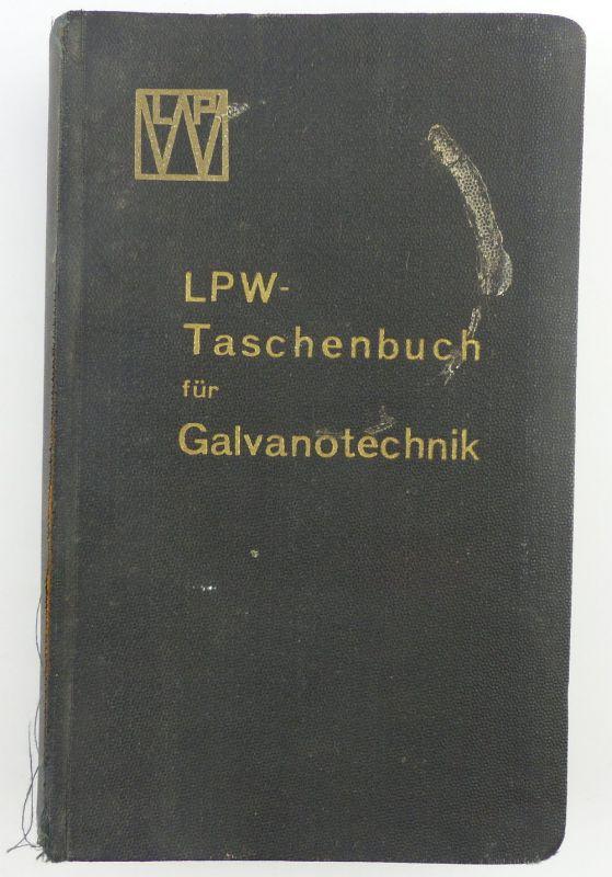 Buch: original altes Buch von 1936 LPW Taschenbuch für Galvanotechnik e853 0