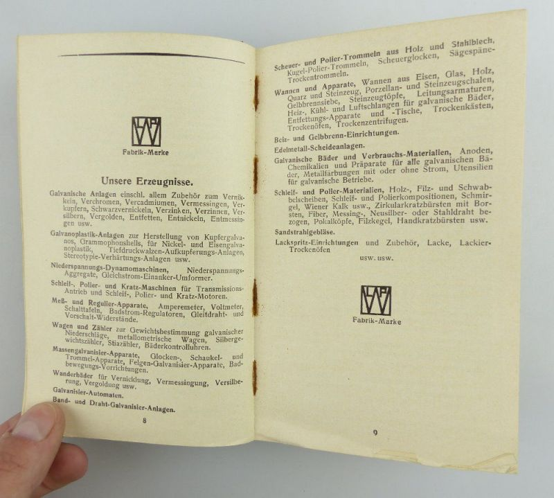 Buch: original altes Buch von 1936 LPW Taschenbuch für Galvanotechnik e853 7