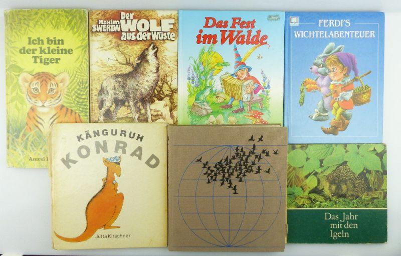 7 Kinderbücher: Die Tierwelt der Erde, Känguru Konrad, Wichtelabenteuer e849