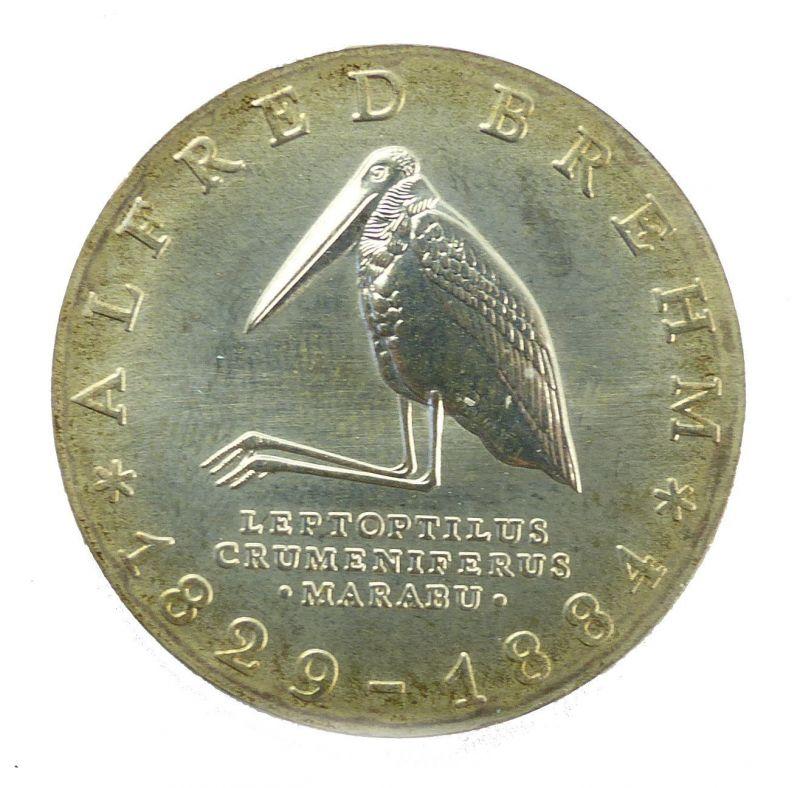 #e8658 10-Mark-Gedenkmünze von 1984 - DDR - Alfred Brehm - Marabu - A 0