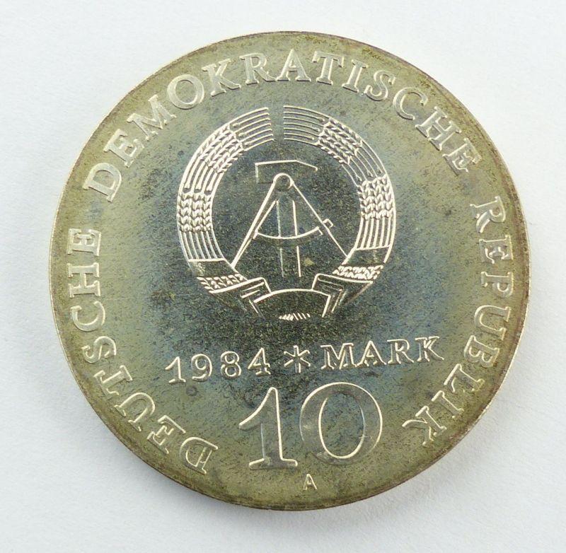 #e8658 10-Mark-Gedenkmünze von 1984 - DDR - Alfred Brehm - Marabu - A 2