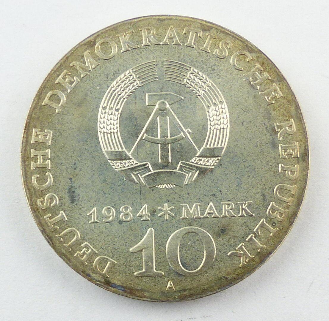 #e8657 DDR 10-Mark-Gedenkmünze von 1984 - Alfred Brehm - Marabu - A 2