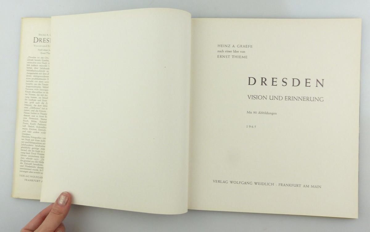 #e8654 Buch Dresden - Vision & Erinnerung mit 90 Abbildungen von 1965 4