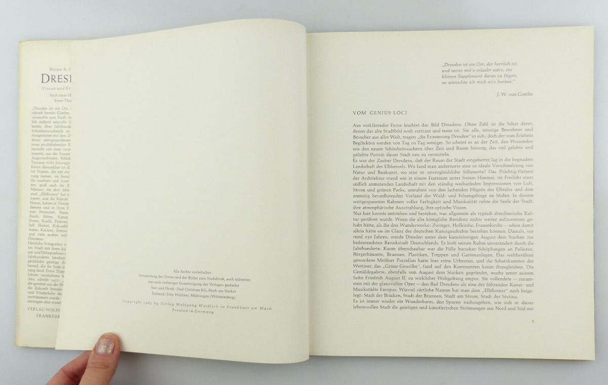 #e8654 Buch Dresden - Vision & Erinnerung mit 90 Abbildungen von 1965 5