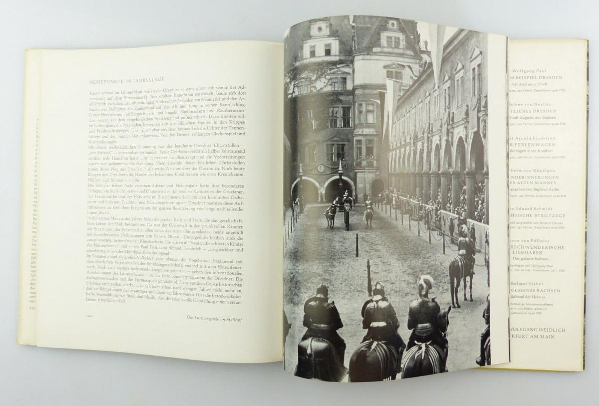 #e8654 Buch Dresden - Vision & Erinnerung mit 90 Abbildungen von 1965 8
